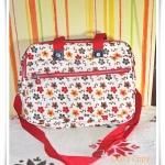 กระเป๋าถือ กระเป๋าสะพายข้าง Kipling ดอกไม้สีส้ม