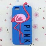 เคส iphone 6 ขนาด 4.7 นิ้ว เคส วิคตอเรีย ซีเคร็ท Pink สีฟ้าเข้ม ลาย นกฟลามิงโก้ เคสลาย แปลก หายาก 763134
