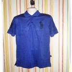 เสื้อโปโลผู้ชาย Polo Ralph สีพื้น สีกรมท่า pl42007
