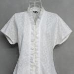 เสื้อลูกไม้สีขาวสไตล์วินเทจ