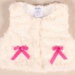 ชุดเด็กผู้หญิง ชุดเด็กเล็ก 6 เดือน ถึง 2 ขวบ ชุดเด็ก ผ้า Cotton ขนนุ่ม ๆ น่ารัก ไฮโซ สุด ๆ สีขาว โบว์แดง 727061_1