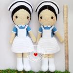 ตุ๊กตาถัก พยาบาลนักศึกษา 20 นิ้ว