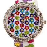 นาฬิกาข้อมือผู้หญิง นาฬิกาแฟชั่น สำหรับคนชอบสะสม นาฬิกาข้อมือ สาย Silicone อย่างดี ลายดอกทานตะวัน สลับสี สดใส 829094_8