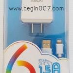 คุ้มสุดๆๆ! ชุดชาร์จi ARUN ไอโฟน 5+6 +7+Ipad (Input 1.5 A) ( ชุดชาร์จบ้าน 2 ชิ้น)