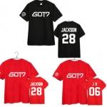 เสื้อยืด GOT7 แดง/ดำ [ระบุเมมเบอร์]