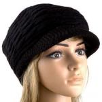 หมวกแฟชั่น หมวกไหมพรมถัก สำหรับผู้หญิง หมวกไหมพรม ใส่เที่ยว ใส่กันแดด กันร้อน สวยใส สไตล์วัยรุ่น สีดำ 92518