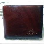 กระเป๋าสตางค์ Polo หนังแท้ ลายไม้ สีน้ำตาล P567001