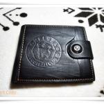 กระเป๋าสตางค์หนังแท้สีดำ Chel Sea P001