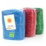 """เชือกร่ม """" THE SUN """" (500g) สีล้วน"""
