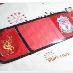 ที่ใส่ CD ติดที่บังแดด รถยนต์ ลายทีมฟุตบอล Liverpool พร้อมที่ใส่โทรศัพท์