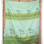ผ้าม่านสำเร็จรูป สำหรับหน้าต่าง สีเขียวตองอ่อน