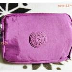 กระเป๋าใส่ดินสอ ใส่เงิน ใส่เครื่องสำอางค์ Kipling สีม่วง K206