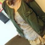 พร้อมส่ง -  สีเทา (แบบนี้สีเทาค่ะ) เสื้อคลุม สไตล์เกาหลี เก๋ๆ