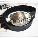 เข็มขัดหนังแท้ Levi's หัวทองเหลืองทรงรี L213