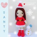 """ตุ๊กตาถัก ซานตาครอส 12"""""""