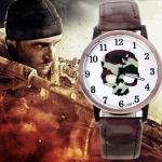 นาฬิกาข้อมือ แนวร็อค หน้าปัดรูปหัวกะโหลก เท่ แนวเกมส์ยิงปีน สไตล์คนชอบ Frontline Commando no 91706