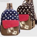 กระเป๋าเป้ กระเป๋าสะพายหลัง ผ้าแคนวาส ผ้ายีนส์ สไตล์ เด็กวัยรุ่น ใส ๆ กระเป๋าสะพายใส่หนังสือเรียน ของกระจุกกระจิก สายสะพาย รูดซิปได้ 482725
