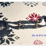เข็มขัดเชือกถัก ร้อยลูกปัด งาน Handmade H013