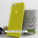 ซื้อ 1 แถม 1 Case ใส่ Iphone 5 5s แบบใส สีเหลือง