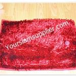 พรมเช็ดเท้า ไมโครไฟเบอร์ 40*60 cm สีแดง รุ่นมันวาว