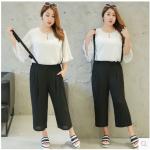 เสื้อ+กางเกงสาวอ้วนพลัสไซต์ XL-4XL