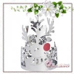 Yankee Candle / Silver Reindeer Collection Jar Candle Holder
