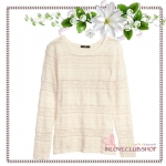 H&M / Lace Top (Size M /#Natural white)