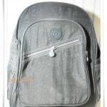 กระเป๋า notebook สะพายหลัง สีเทา KP007