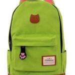 กระเป๋าสะพายหลัง กระเป๋าเป้ ผ้า canvas หรือ ผ้ายีนส์ กระเป๋าใส่หนังสือ ไปเรียนได้ แฟชั่น ญี่ปุ่น หูแมว น่ารักสุด ๆ สีเขียว no 4833060_7