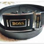 เข็มขัดทำงานหัวล๊อค Boss สีดำ เข็มขัดทำงานผู้ชาย P004