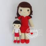 ตุ๊กตาถัก แม่ลูก 15 นิ้ว