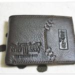 กระเป๋าสตางค์ Levis หนังแท้ สีน้ำตาลเข้ม L106