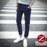 กางเกงยีนส์ผู้ชาย   ยีนส์แฟชั่นขายาว ทรงกระบอกเล็ก แฟชั่นเกาหลี