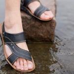 รองเท้าผู้ชาย รองเท้า แบบรัดส้น รองเท้า ใส่เที่ยว เดินป่า เที่ยว ชายทะเล ชายหาด สายรัดหนังแท้ ดีไซน์ แบบผู้ใหญ่ ยืดหยุ่นสูง ใส่สบาย 705830