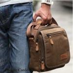 กระเป๋าสะพายข้าง กระเป๋าสะพายเฉียง ผู้ชาย ขนาดกำลังดี สีน้ำตาล และ สีดำ กระเป๋าใส่ ipad ได้ มีช่องแยกหลายช่อง แบบสวย ราคาถูก 503645