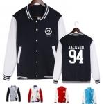 Preorder เสื้อสเวตเตอร์เบสบอล GOT7 Jackson