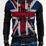 เสื้อ แจ็คเก็ต ผู้ชายแขนยาว แบบสวม เสื้อหมวก มีฮู้ด สีเทาเข้ม เพ้นท์ลาย The Who เสื้อใส่กันหนาว ลายธงชาติอังกฤษ สีสวย แบบวัยรุ่น 949493_2