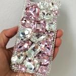 เคสมือถือสั่งทำกรอบไอโฟน 6 สวยสุดเว่อร์ คริสตัลและเพชรเม็ดใหญตกแต่งเต็มเคส iPhone 6 crystal ID: A270