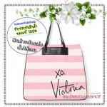 Victoria's Secret Signature Tote Bag (สีชมพูลายขาว)