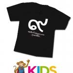 เสื้อดำ เด็ก Size S cotton100%