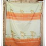 ผ้าม่านสำเร็จรูป สำหรับหน้าต่าง สีครีมสลับส้ม