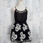 **สินค้าหมด blouse1823 เสื้อแฟชั่นสายเดี่ยวอกเพชร ผ้าชีฟองสีดำ