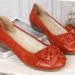รองเท้าหุ้มส้น ผู้หญิง รองเท้าหนังแท้ ใส่เที่ยว ใส่ทำงาน ด้านหน้า ดีไซนติดโบว์ ใส่สบาย รองเท้าผู้หญิง ใส่ทำงาน สีส้ม ราคาถูก no 77216_5