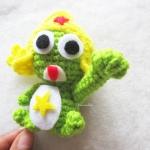 พวงกุญแจโคโรโระถักไหมพรม ขนาด 4 นิ้ว kororo crochet keychain 4 inch