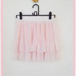**สินค้าหมด skirt267 กระโปรงแฟชั่นงานแพลตตินั่ม ผ้าชีฟองอัดพลีทสองชั้น สีโอลด์โรสพาสเทล