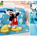 ผ้าห่มกำมะหยี่ เนื้อนุ่ม 5 ฟุต Micky mouse สีฟ้า M003