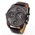 นาฬิกาข้อมือ ผู้ชาย สายหนัง สีน้ำตาล กาแฟ หน้าปัด 3 มิติ นาฬิกาแนวใหม่ เห็น มุมลึก ด้านใน ของขวัญให้แฟน ให้พ่อ ให้เพื่อน ปีใหม่ วาเลนไทน์ 906012_1