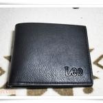 กระเป๋าสตางค์ Lee สีดำหนังนุ่ม A001