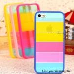 เคส iphone 5 สีรุ้ง Rainbow case ขอบสีน้ำเงิน ฟรีปากกา Touch screen