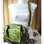 กระเป๋าสะพายข้าง kipling สีเขียว ถอดสายได้ K103
